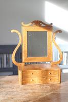 Swedish Birch / Masurbjörk Box Mirror Rococo style c.1820 (2 of 15)