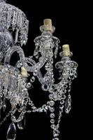 Late 19th Century Six Arm Cut Glass Chandelier (4 of 4)