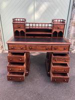 Antique Anglo Indian Teak Pedestal Writing Desk (11 of 13)