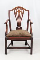 Antique Georgian Mahogany Desk Chair (9 of 12)