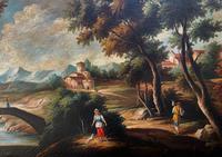 Substantial! Original Italian Landscape Oil by Follower of 17th Century Gaspard Dughet (7 of 15)