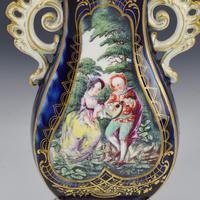 Chelsea Porcelain Gold Anchor Period Blue Ground Vase c.1765 (13 of 14)