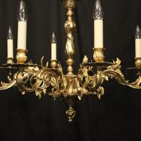 French Gilded 8 Light Chandelier (2 of 10)
