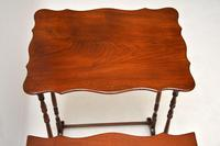 Antique Mahogany Nest of Four Tables (11 of 12)