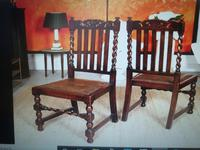 Solid Oak Table with flaps and four chairs. All very substantial in weight! (7 of 9)