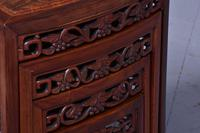 Nest of 3 Chinese Qing Dynasty Rosewood & Burr Wood Tables (2 of 11)