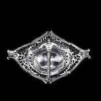 Antique Victorian Small Silver Sweet Basket / Bonbon Dish - Charles Stuart Harris 1890 (12 of 14)