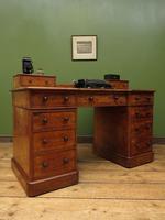 Antique Satin Birch Pedestal Desk by Heal & Sons (2 of 21)