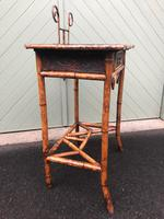 Antique Lacquered Bamboo Desk (4 of 11)