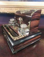 Early Victorian Coromandel Letter & Inkstand (5 of 7)