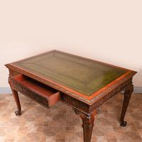 Superb Quality Mahogany Chippendale Design Writing Table (19 of 23)