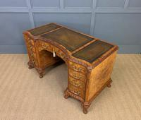 Burr Walnut Pedestal Desk by Maple and Co (16 of 18)