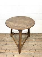 Traditional Style Oak Cricket Table (2 of 10)