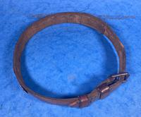 Victorian Brass Mounted Hide Dog Collar (3 of 10)