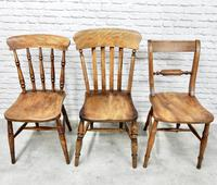 Antique Harlequin Set of 6 Kitchen Chairs (3 of 6)