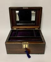 Antique Fitted Rosewood Jewellery Box (2 of 12)