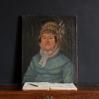 19th Century German School, Portrait of a Lady with a Bonnet (3 of 9)