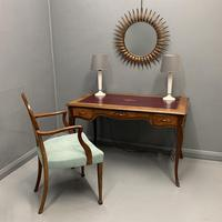 French Red Leather Top Bureau Plat (8 of 9)