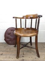 Antique Captain Style Elm Armchair (11 of 12)