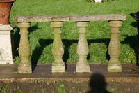 Weatherworn Concrete Balustrade, Columns & Coping Stones (4 of 7)