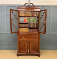 Edwardian Inlaid Mahogany Secretaire Bookcase (5 of 21)