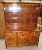 1900's Oak Dresser with Display Rack Good Fruitwood Colour