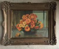 Streetwood Oil Painting 'Marigolds in a Vase' (2 of 2)