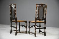 Pair of Oak Cane Hall Chairs (6 of 11)