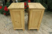 Quality Pair of Old Stripped Pine Bedside Cabinets (8 of 9)