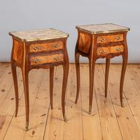 Pair of French Walnut & Kingwood Bedside Cabinets (7 of 8)
