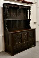 Early 18th Century Carved Oak Buffet Sideboard Dresser (4 of 14)