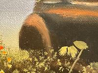 """Oil Painting """"Unloved Abandoned VW Beetle Car"""" Signed David Robert (19 of 27)"""