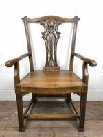 Pair of 19th Century Chippendale Style North Country Armchairs (7 of 10)