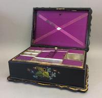 Mid 19th Century Papier-mâché Work Box (3 of 4)