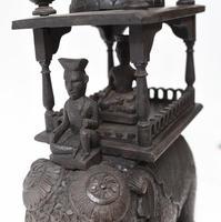 Carved Burmese Elephant Statue Antique Burma c.1890 (4 of 8)
