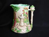 Falcon Ware Jug by Thomas Lawrence - Hand Painted Ware
