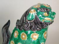 Superb Pair of 19th Century Chinese Porcelain Dogs of Fo Temple Guardians (10 of 12)