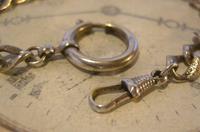 Antique German Pocket Watch Chain 1920s Ornate Silver Nickel Fancy Albert (7 of 11)