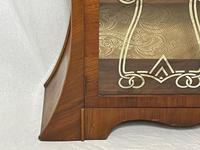Art Deco Walnut Curved Bookcase Display Storage Cabinet (6 of 29)