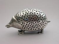 Edwardian Novelty Cast Silver Porcupine Pin Cushion (8 of 15)