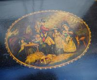 Regency Oblong Lacquered & Painted Tray (2 of 6)