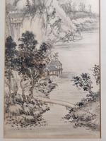 Three Japanese original ink/ watercolour lanscape paintings circa mid. 20th Century (20 of 20)