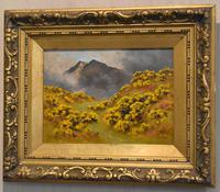 Oil Painting of Mount Snowdon by Alfred Oliver (3 of 8)