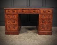 Exceptional Victorian Figured Walnut Desk (8 of 18)