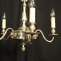 English Silver Plated 5 Light Antique Chandelier (2 of 10)