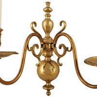 Early 20th Century Brass Wall Sconce (3 of 7)