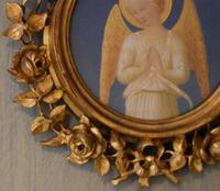 Angel Painting After Fra Angelico in Giltwood Frame (4 of 11)