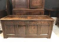 Oak Coffer With Tulip Carving