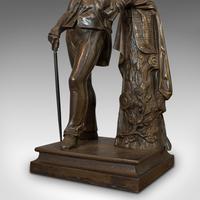 Antique Figure, Sir Walter Scott, Bronze, Statue, Poet, Victorian c.1880 (2 of 12)