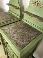 Antique French Painted Bedside Tables Pot Cupboards Original Paint (12 of 13)